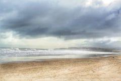 Het zuiden beschermt strand Stock Afbeeldingen