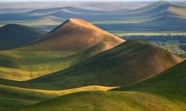 Het Zuiden Ural van heuvels. Stock Afbeelding