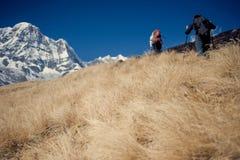 Het Zuiden van Annapurna, Himalayagebergte, Nepal Stock Foto