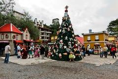 Het Zuiden van de Kerstboom van Gramado van Brazilië stock fotografie