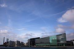 Het Zuiden van Kopenhagen - de architectuur van de Waterkant Stock Foto's