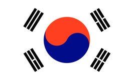 Het zuiden van Korea stock illustratie