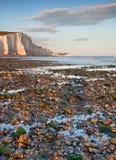 Het Zuiden van zeven Klippen van Zusters verslaat het landschap van Engeland Stock Afbeelding