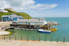 Het zuidenkust van het Eiland Wight van de Ventnorhaven van de stad van de eilandtoerist Royalty-vrije Stock Foto