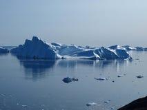 Het zuidenkust van Ilulissat van ijsbergen, Groenland. royalty-vrije stock foto's