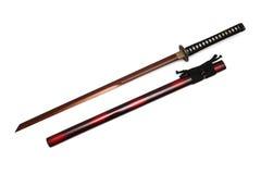 Het zwaard en de schede van Katana Japanese Stock Fotografie