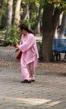 Het zwaard van ochtendtai chi Royalty-vrije Stock Foto's