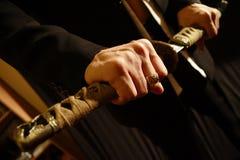 Het zwaard van samoeraien Stock Foto's