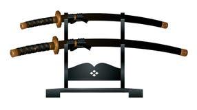 Het zwaard van samoeraien Stock Foto