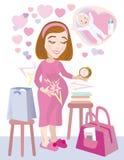 Het zwangere gaan naar het ziekenhuis Royalty-vrije Stock Afbeeldingen