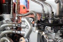 Het zware detail van de vrachtwagenmotor Stock Foto