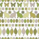 Het zwart-wit Lineaire Patroon van Pasen naadloos Pasen-ontwerp voor Achtergrond, Textiel, en Druk Het Lineaire die Patroon van P vector illustratie