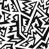 Het zwart-wit naadloze patroon van Mexico stock illustratie