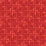 Het zwart-wit rode naadloze patroon met de wijzers van de klok mee van de baksteen spiraalvormige tegel Royalty-vrije Illustratie