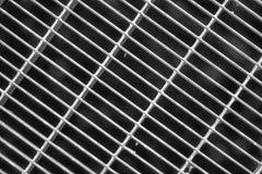 Het zwart-wit rooster van de Staalgrond Roestvrij staaltextuur, achtergrond voor website of mobiele apparaten Stock Foto's