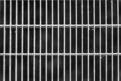 Het zwart-wit rooster van de Staalgrond Roestvrij staaltextuur, achtergrond voor website of mobiele apparaten stock afbeelding