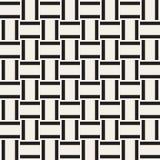 Het in zwart-wit Rooster van het keperstofweefsel Abstract geometrisch Ontwerp als achtergrond Vector naadloos patroon stock illustratie