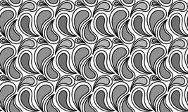 Het zwart-wit Water laat vallen Naadloos Patroon vector illustratie