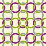 Het zwart-witte abstracte naadloze patroon, stelt golvende regelmatig tegenover elkaar Stock Fotografie
