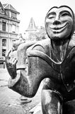 Het zwart-witte Beeldhouwwerk van Luxemburg royalty-vrije stock foto