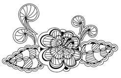 Het zwart-witte bloemenelement van het patroonontwerp Royalty-vrije Stock Foto