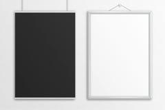 Het zwart-witte 3D model van de illustratieaffiche royalty-vrije illustratie