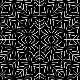 Het zwart-witte Etnische Naadloze Patroon van Geoemtric Royalty-vrije Stock Afbeelding