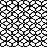 Het zwart-witte geometrische Marokkaanse naadloze patroon van het ornament abstracte rooster, vector vector illustratie