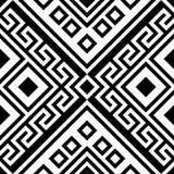 Het zwart-witte geometrische ornament van het grote schaal vector naadloze patroon vector illustratie