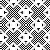 Het zwart-witte geometrische ornament van het grote schaal vector naadloze patroon royalty-vrije illustratie
