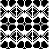 Het zwart-witte geometrische ornament van het grote schaal vector naadloze patroon stock illustratie