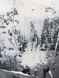 Het zwart-witte hand getrokken acryl schilderen royalty-vrije illustratie
