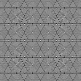 Het zwart-witte Hexagon Tegelspatroon herhaalt Royalty-vrije Stock Afbeeldingen