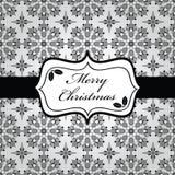 Het zwart-witte Kerstmis verpakken Stock Afbeelding
