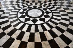 Het zwart-witte Marmeren Patroon van de Vloer Stock Afbeeldingen