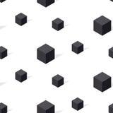 Het zwart-witte naadloze patroon van connceptgeomerty Stock Afbeeldingen