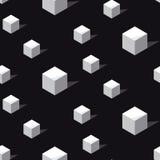 Het zwart-witte naadloze patroon van connceptgeomerty Stock Fotografie