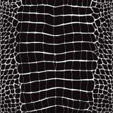 Het Zwart-witte Naadloze Patroon van de krokodilhuid vector illustratie