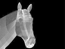 Het zwart-witte netwerk van paard royalty-vrije illustratie