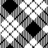 Het zwart-witte patroon van de geruit Schots wollen stofplaid - Vectorillustratie - Eps-10 vector illustratie