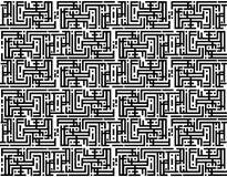 Het zwart-witte patroon van vierkanten. Royalty-vrije Stock Foto's