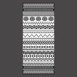 Het zwart-witte stammenontwerp van de borduurwerkhanddoek Royalty-vrije Stock Foto's