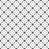 Het zwart-witte vector abstracte naadloze patroon met net, diamantvormen, sterren, ruiten, rooster, herhaalt tegels royalty-vrije illustratie