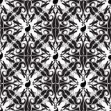 Het zwart-witte vector naadloze patroon van Paisley Royalty-vrije Stock Afbeeldingen
