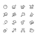 Het zwarte die pictogram van het babyspeelgoed op witte achtergrond wordt geplaatst Stock Foto