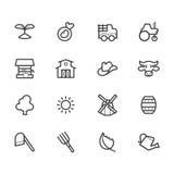 Het zwarte die pictogram van het landbouwbedrijfelement op witte achtergrond wordt geplaatst Royalty-vrije Stock Foto