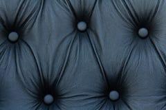 Het zwarte echte patroon van de leerbank Stock Foto's