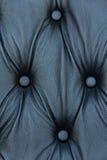 Het zwarte echte patroon van de leerbank Stock Fotografie
