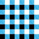 Het zwarte en blauwe naadloze patroon van de houthakkersplaid, vectorillustratie stock illustratie