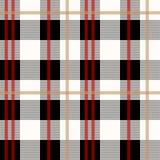 Het zwarte en rode naadloze patroon van de houthakkersplaid, vectorillustratie eps10 vector illustratie